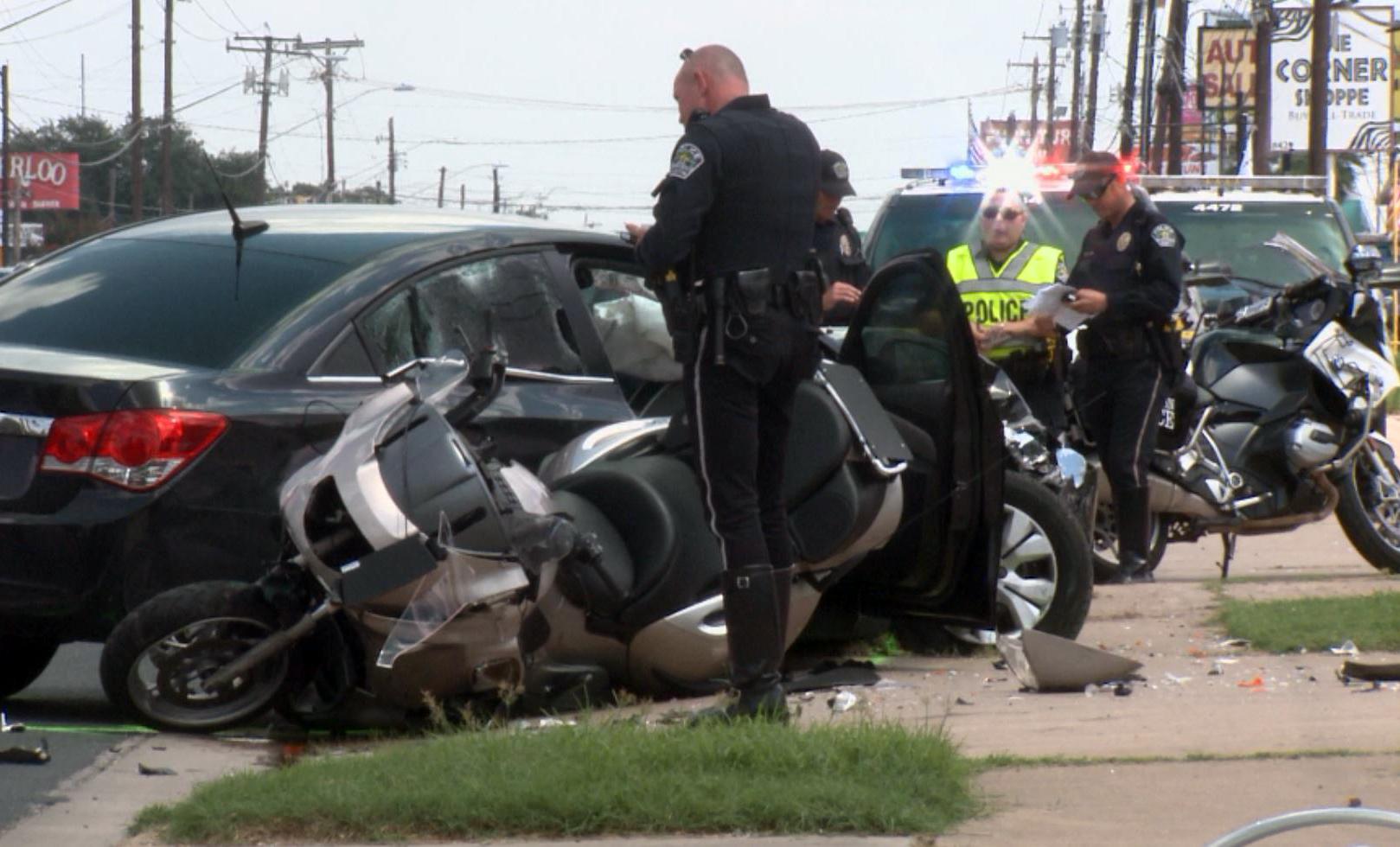 Burnet Road Motorcycle cop crash_342874