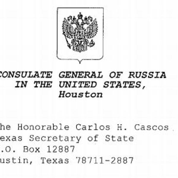 Request from the Russian Consulate General to observe Texas polling station denied by Texas Secretary of State Cascos_364766