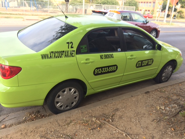 Green means go for ATX Co-op Taxi