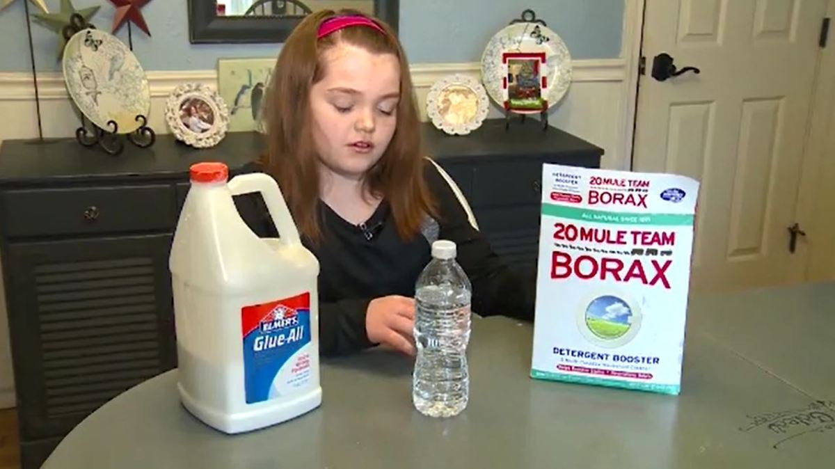 Girl with the ingredients for slime, including dangerous Borax (Nexstar file photo)_457909