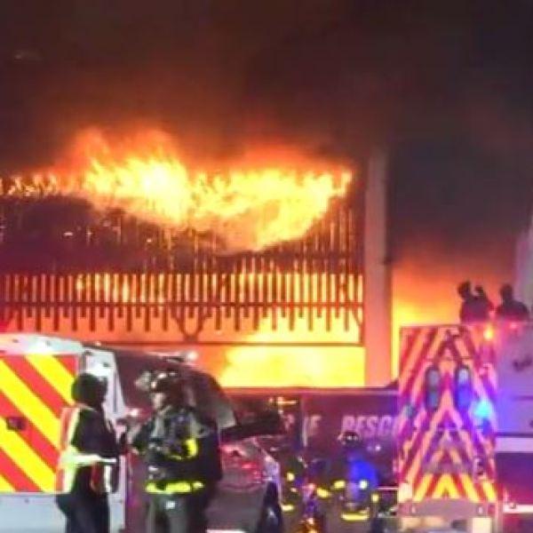 First responders fight a 4-alarm blaze on Ingram Road in San Antonio on May 18, 2017_488409