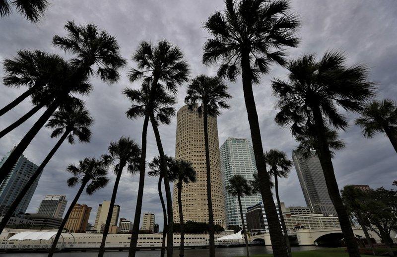 Downtown Miami skyline during hurricane Irma_542140