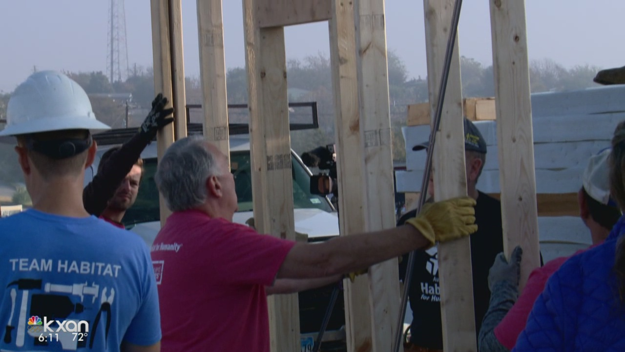 Austinite to receive new home as part of Habitat for Humanity's 'blitz build'