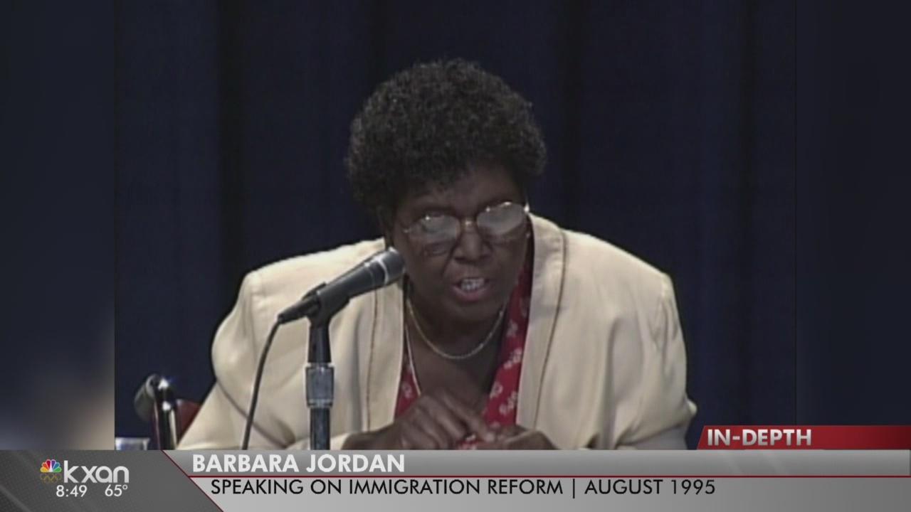 President Trump says he shares immigration views with Barbara Jordan