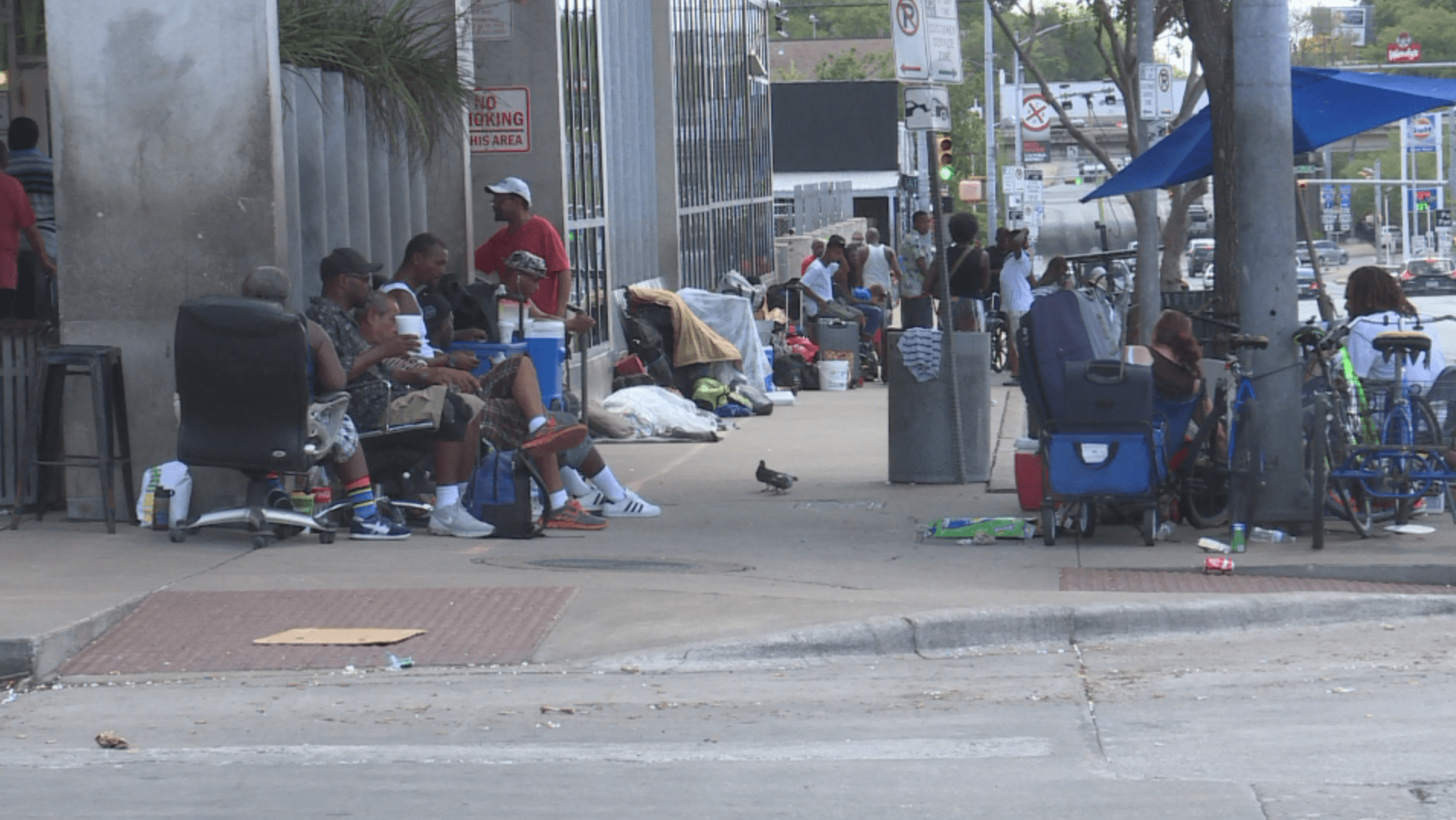 Starting Monday, homeless people will be able to camp on