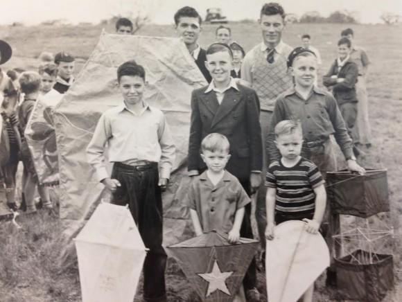 Group of kids at kite fest_644489