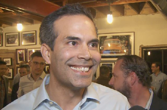 George P. Bush at watch party on March 6, 2018