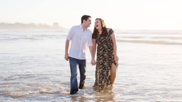 Anthony Zanin and his fiancee