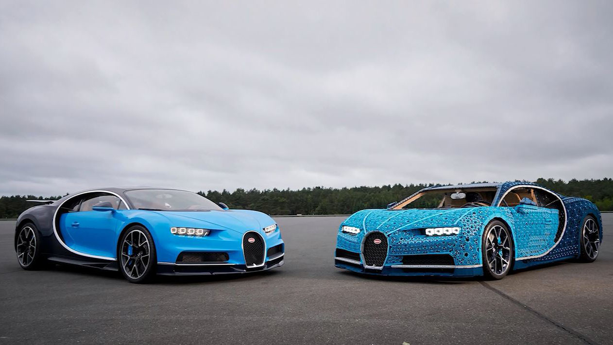 LEGO builds life-sized, working Bugatti Chiron out of 1 million