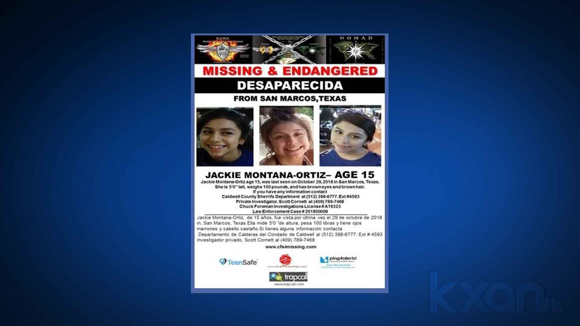Missing Jacki Montana-Ortiz