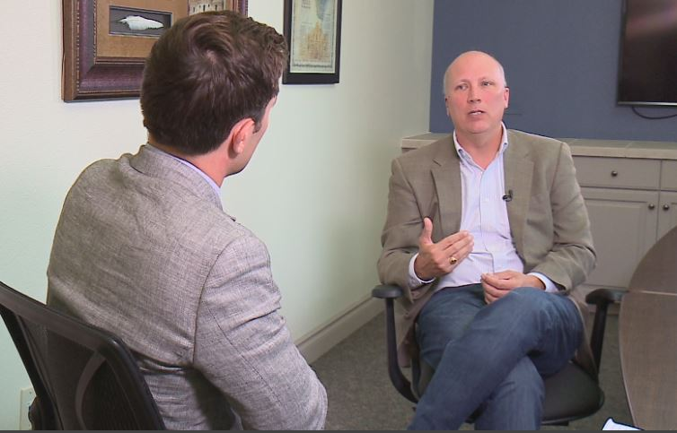 Rep. Chip Roy, R-Austin, speaks with KXAN's political reporter Phil Prazan