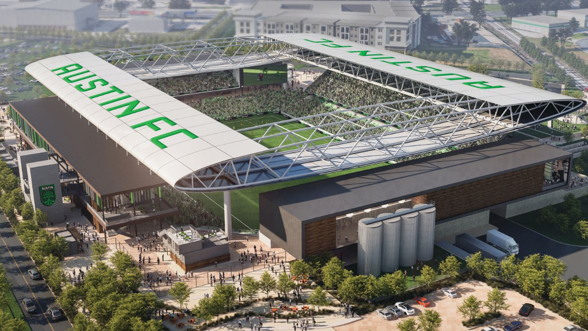 Rendering of the Austin FC stadium