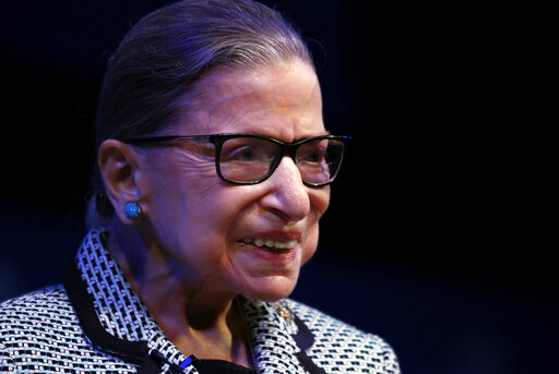 To cheers of 'RGB,' Justice Ginsburg explains what saved her