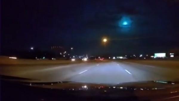 Meteor streaks across Texas