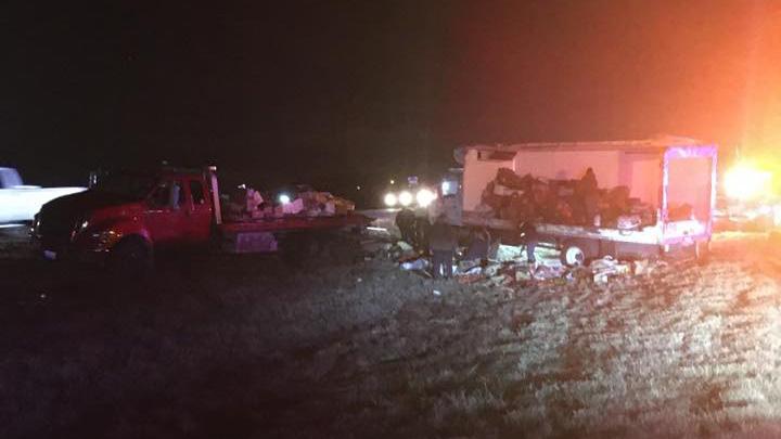 Rollover crash in Manor