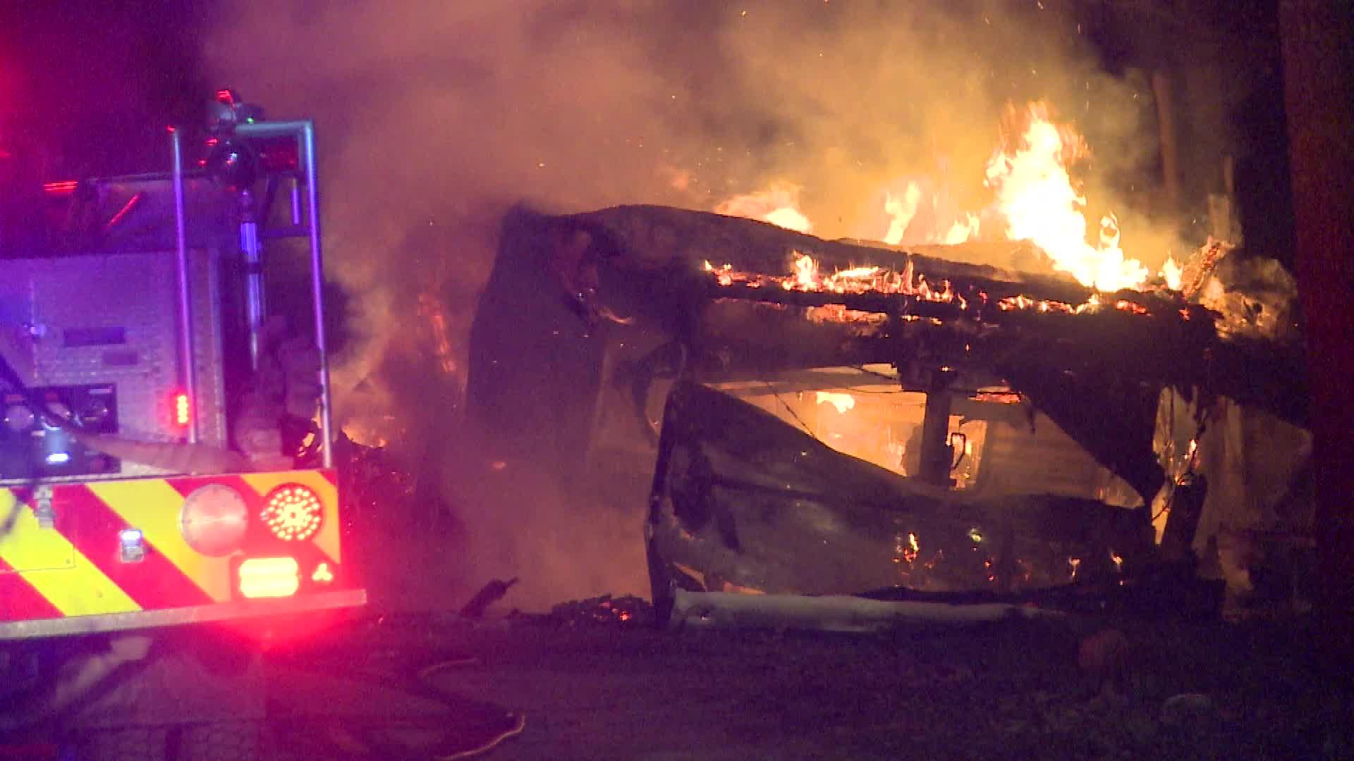 Lower Drive camper fire