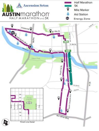 TRAFFIC: Road closures for the Austin Half Marathon and KXAN Simple Health 5K