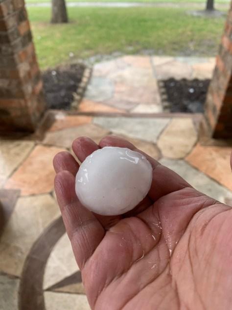 Hail in the Avery Ranch area on April 15, 2021 (Courtesy: Udhaya Kannan)