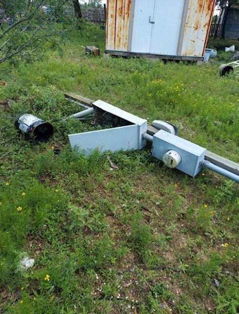 Meter knocked down (Austin Energy Photo)