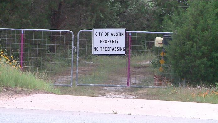 12101 Anderson Mill Road, a parcel of land in council member Mackenzie Kelly's district that was on the city's preliminary list of possible encampment sites. (KXAN Photo/Tim Holcomb)