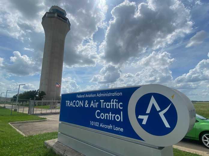 Austin-Bergstrom International Airport tower (KXAN Photo/Todd Bynum)