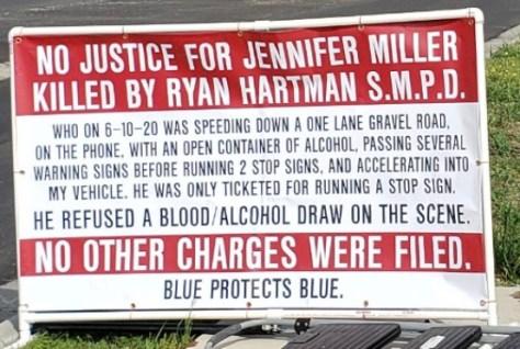 Fliers posted by Pamela Watts demanding justice (KXAN Photo/Jala Washington)