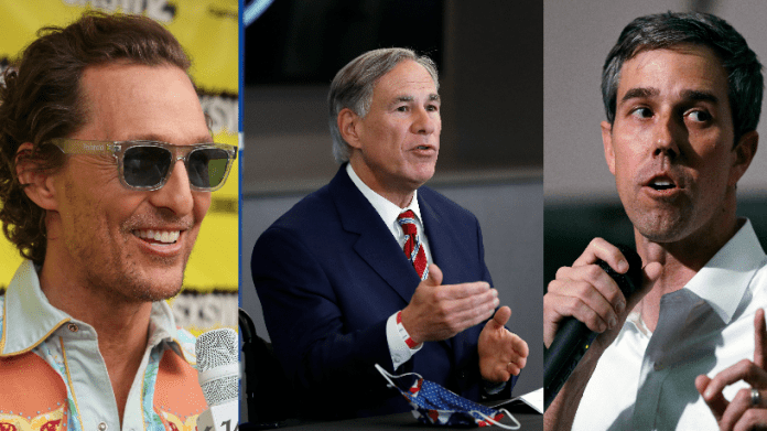 What latest poll shows about potential governor's race of Abbott vs. McConaughey vs. O'Rourke
