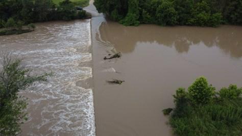 Flooding in Weir, Texas on June 3, 2021 (Courtesy: Miguel Garcia)