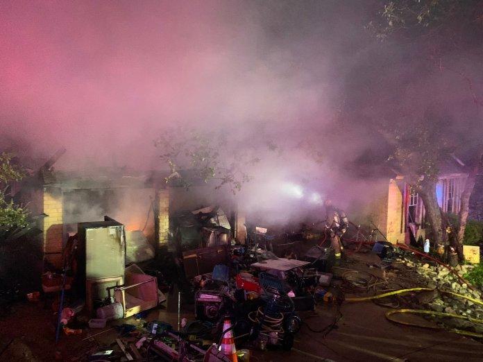 Home burns in north Austin near Walnut Creek park Wednesday