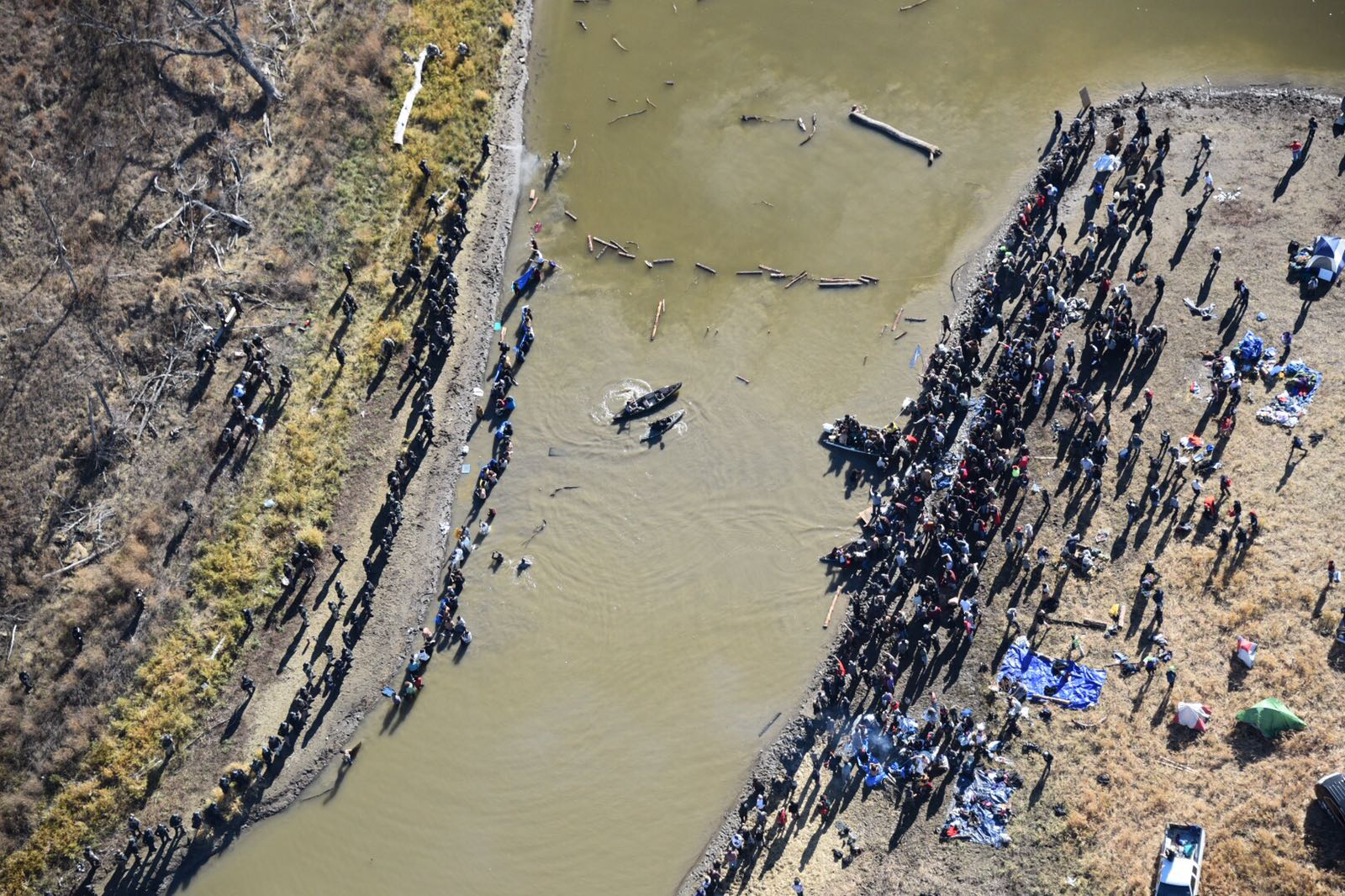 Protesters in water from above_1478116848889.jpg
