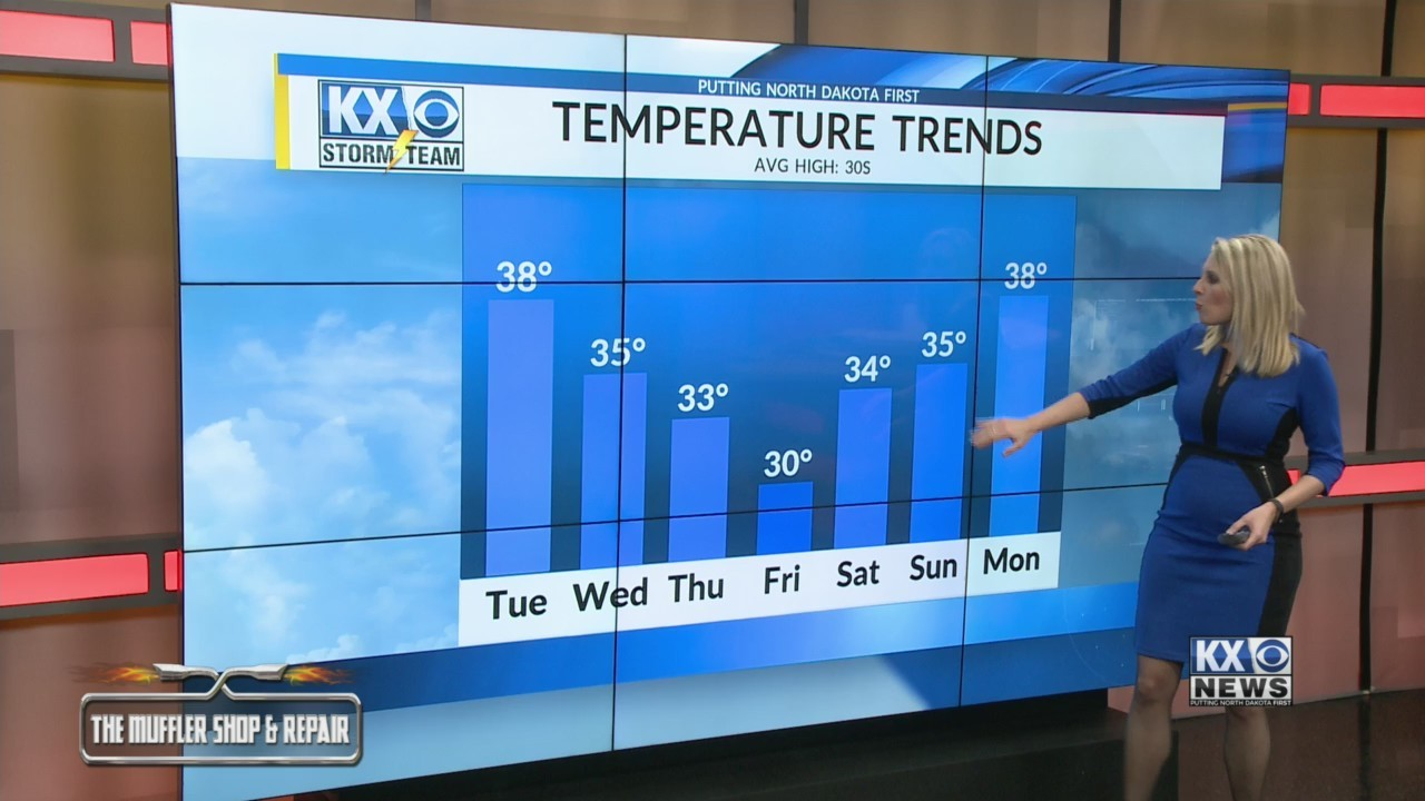 Amber's Tuesday Morning One Minute Forecast 3/12