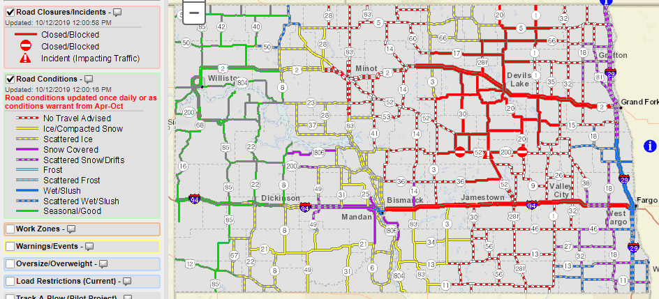 Many roads remain closed across North Dakota | KX NEWS on texas road map, oregon road map, nd map, s. dakota road map, international road map, north dakota state map, maryland road map, louisiana road map, morton county road map, montana road map, wyoming road map, south dakota map, north dakota railroad map, kansas road map, minnesota road map, wells county road map, nevada road map, hawaii road map, north dakota county map, north dakota city map,