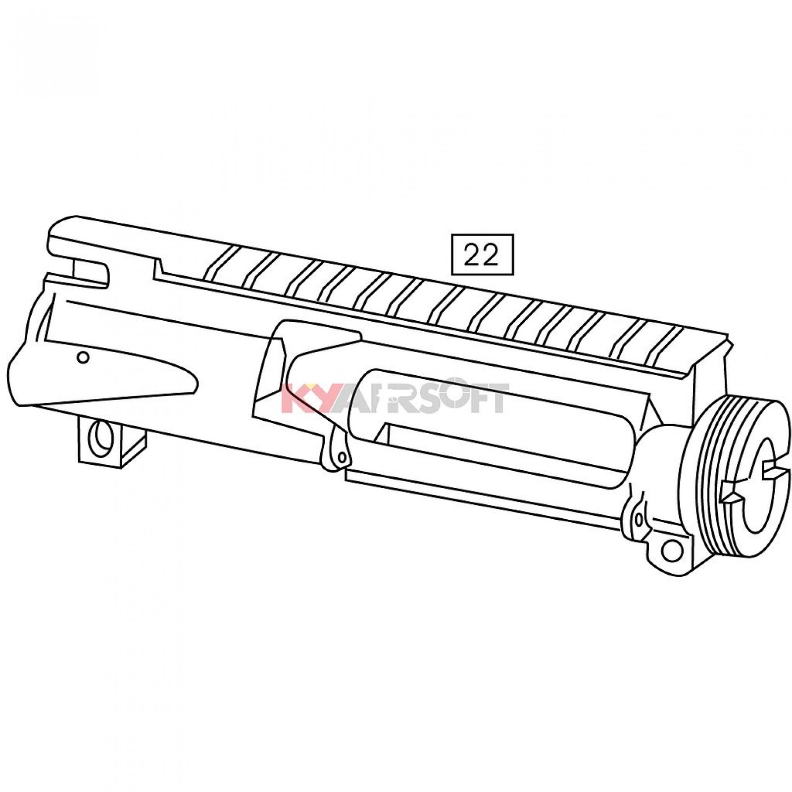 M4 22 Upper Receiver Gbbr Bk
