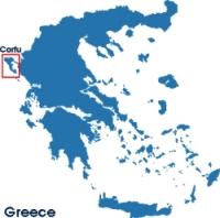 Corfu island map