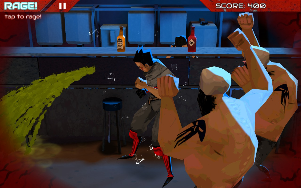 Wasteland Bar Fight: Gallia pukes after drinking RedX