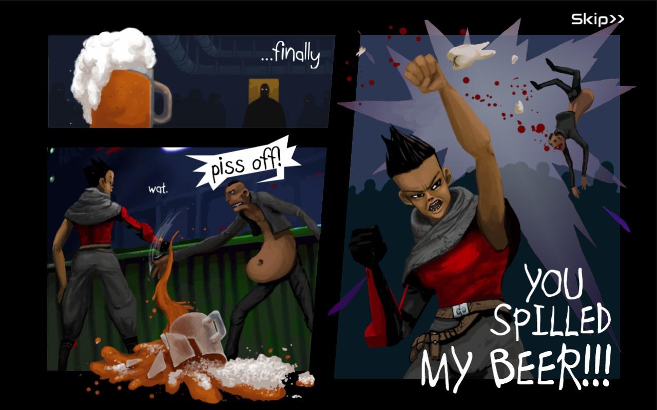 Wasteland Bar Fight: Gallia Intro Screen