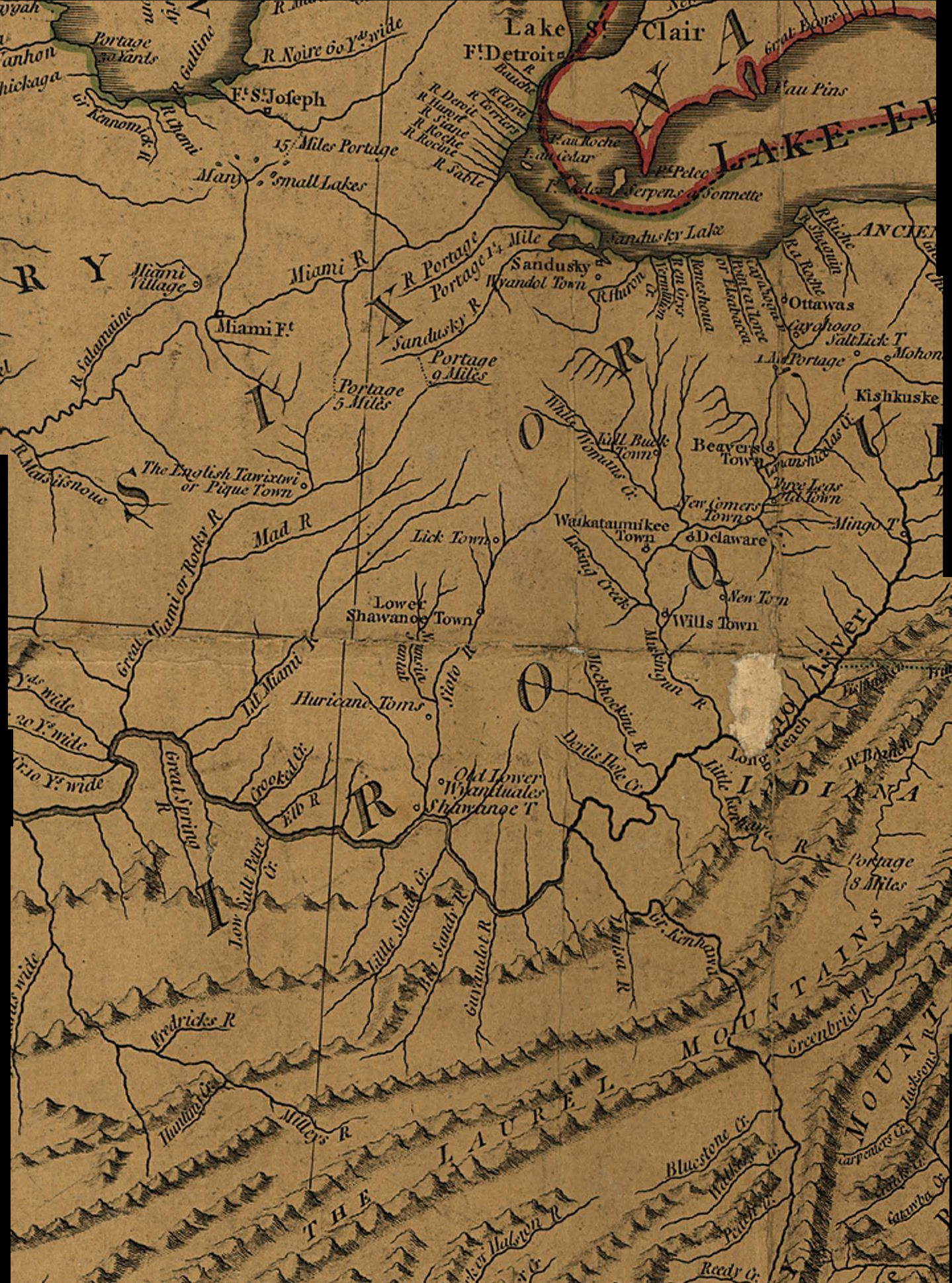 Maps  Map Links and Aerial Photos     1783 Subsection of the J  Cary Map