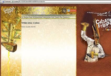 Site internet - www.cabaret-frappe.com