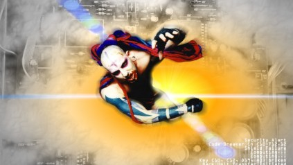 Modern cyber fashioned male looking to escape from a circuitry motherboard, composite by Kyesos