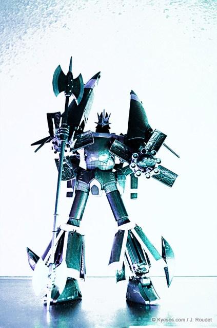 Back lighted amazing gunbuster robot