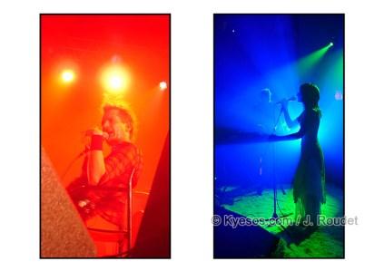 Orange vs Blue singer