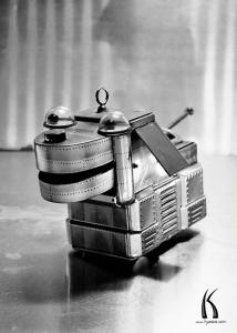 Vintage original Rover The Space Dog tin toy robot