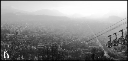View of grenoble from Bastille by Kyesos