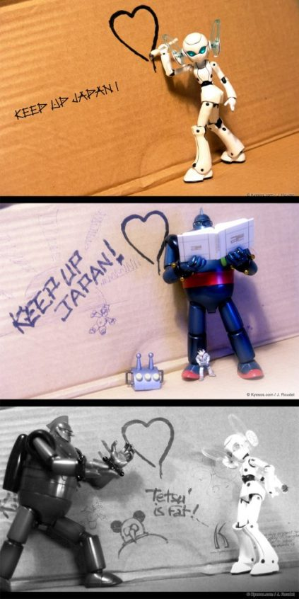 robot photo to support Fukushima's victims by Kyesos