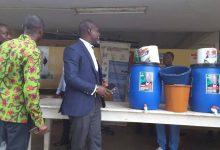 Photo of Kwesimintsim NDC Parliamentary candidate donates Veronica buckets to five institutions