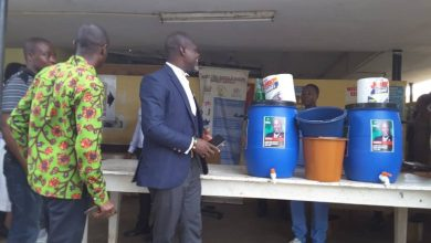 Photo of Kwesimintsim NDC Parliamentary candidate donates Veronica buckets to five institutions