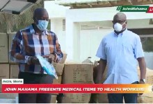 Photo of John Mahama donates medical items worth GH¢390,000 to health workers