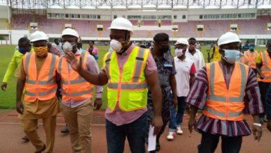 Photo of Sports Minister Isaac Asiamah inspects Sekondi Sports Stadium [Photos+ Video]