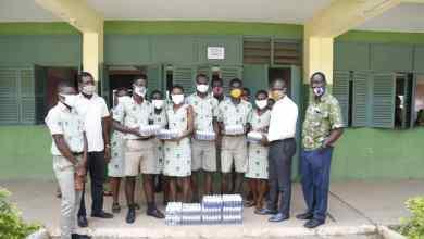 Photo of Kwesimintsim Constituency: Philip Fiffi Buckman donates 600 Hand Sanitizers to TADISCO