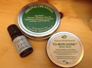 Girod indictment: Sam's 3 products: chickweed salve, bloodroot salve and an essential oil blend
